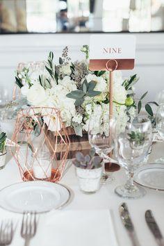 Copper wedding details