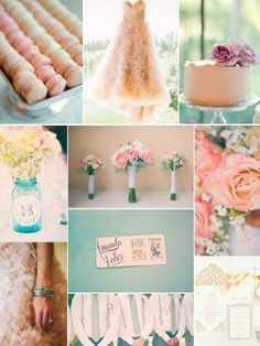 Peaches + Cream is a match made in heaven, and it's a pairing that welcomes other colors to play too. Soft, pastel shades (from light aqua to blush pink, muted lavender to buttery yellow) are all invited to join in, to transform an already beautiful聽wedding color palette聽into something serenely spectacula