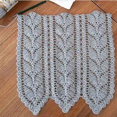"""1,412 """"Μου αρέσει!"""", 19 σχόλια - Örgüye Dair Herşey (@orguyedairhersey_) στο Instagram: """" @gocmenfatmaa . . . . . . #crochet #crocheting #crossstitch #kanavice #crochetblanket #knitting…"""""""