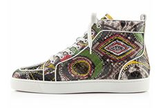 Christian Louboutin Celebrates the Year of the Snake - Louboutin Men's Spring/Summer 2013 Collection Moda Sneakers, Latest Sneakers, New Sneakers, High Top Sneakers, Trendy Mens Shoes, Mens Fashion Shoes, Sneakers Fashion, Me Too Shoes, Men's Shoes