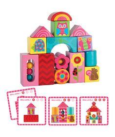 Loving this Pink Wood Blocks Set on #zulily! #zulilyfinds
