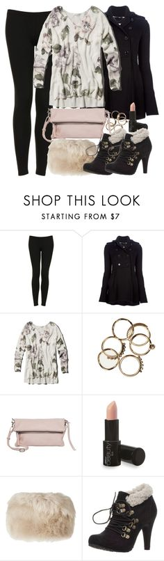Lydia Inspired Winter Outfit with Black Leggings by veterization on Polyvore featuring Abercrombie & Fitch, Burberry, Topshop, Anna Field, BeckSöndergaard and Karl Donoghue