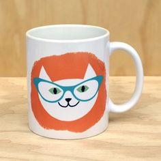 cool cat glasses mug