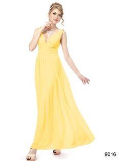Ever Pretty Womens Long Chiffon Maxi Party Dress 14 US Yellow Semi Formal Maxi Dresses, Yellow Bridesmaid Dresses, Elegant Dresses, Pretty Dresses, Bridal Dresses, Evening Dresses, Casual Dresses, Prom Dresses, Bridesmaid Ideas