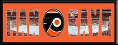 MAN CAVE - Personalized Framed Philadelphia Flyers Team Logo & Wells Fargo Center Stadium Large Panoramic Showing In Background With MANCAVE Letters Cut Out & Team Logo In Center-Framed Awesome & Beautiful-Must For Any Fan! Art and More, Davenport, IA http://www.amazon.com/dp/B00KPV3VQY/ref=cm_sw_r_pi_dp_IskEub1NA3A3W