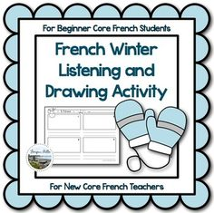 Free! French Winter Listening and Drawing Activity