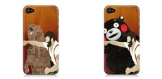 クマをパンチするワイドな男のiPhone5ケース。くまもんバージョン | A!@attrip