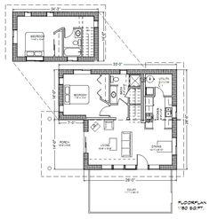 9de7d5fa67 Strawbale Retreat 1100 Plan Usa House, House Plans, House Plans Design,  House Floor