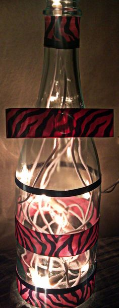 "Wine Bottle with Ribbon $15      ""LIKE"" CLASSY GLASS ON FACEBOOK!"