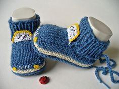Ich habe ein neues Modell entwickelt:)    Die Babyschuhe sind mit 5 Nadeln garantiert per Hand gestrickt, also ohne Naht. Die Schühchen sind mit Socke