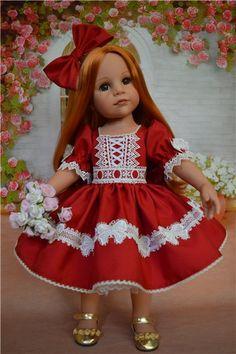 Красное платье для Ханночки. / Одежда и обувь для кукол - своими руками и не только / Бэйбики. Куклы фото. Одежда для кукол