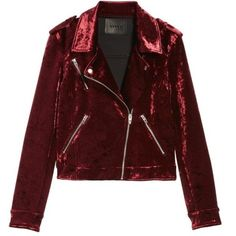 Women's Blanknyc Bonded Velvet Moto Jacket (8.465 RUB) ❤ liked on Polyvore featuring outerwear, jackets, tops, coats, red biker jacket, red moto jacket, velvet jackets, motorcycle jacket and blanknyc