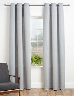 Bantry Weave Eyelet Curtains | M&S