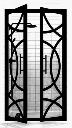 Poe Edition Gridscape Series Double Swing French Shower Doors in Black Frame and Clear Glass – Home Trends 2020 Bathroom Renos, Small Bathroom, Glass Bathroom, Bathroom Shower Doors, Cream Bathroom, Bathroom Accents, Gold Bathroom, Bathroom Images, Glass Shower