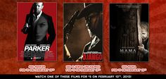 February 13th only!  See Parker, Django Unchained or Mama for just $5 each at Celebration! Cinema.  http://woobox.com/cchq59