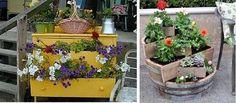 flores en terraza