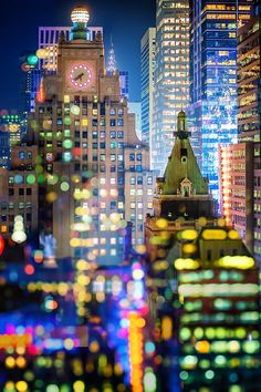 New York City Bokeh Double Exposure | Elle Bruce