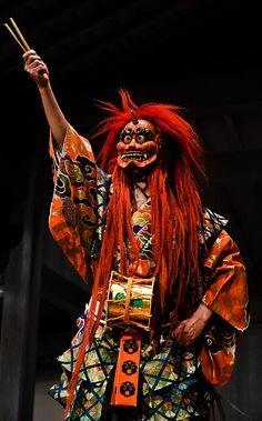 Kyogen performer by Michael Wessel. Kyogen is the classical comic theater which balances the more serious Noh.