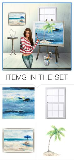 """""""Artist at work"""" by molly2222 ❤ liked on Polyvore featuring art"""