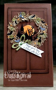 Mama Dini's Stamperia: Impression Obsession DT Challenge: Have a Bewitching Halloween