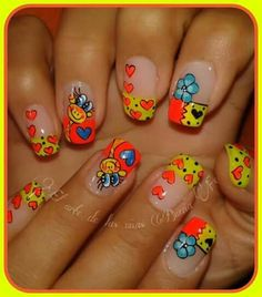 Nail Art Designs Videos, Nail Designs, Spring Nails, Summer Nails, Natural Acrylic Nails, Beauty Brushes, French Nails, Pedicure, My Nails