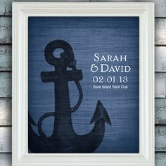 Anchor Together Custom Nautical Wedding by spoiledroyalstudio