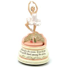 Great dance recital or christmas gift. Ballerina Musical Box. Features the tune Swan Lake.