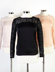 Eva Mendes Collection - Lily Lace - Trim Blouse