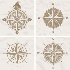 All kinds of compass – vector material   My Free Photoshop World
