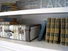Stripey Luggage DIY - The Lilypad Cottage