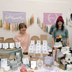 Are you into cats sloths pins temporary tattoos succulents moons ceramics?) today till at by andsmilestudio Craft Fair Displays, Market Displays, Display Ideas, Stall Display, Booth Displays, Renegade Craft Fair, Craft Stalls, Cloud Shapes, Market Stalls