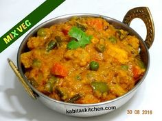 mix vegetable curry quick easy recipe step by step Vegetable Korma Recipe, Vegetable Masala, Veg Recipes, Indian Food Recipes, Mix Veg Recipe, Balls Recipe, Recipe Recipe, Vegetarian Cooking, Vegans