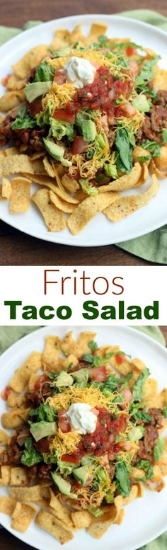 Fritos Taco Salad is a fun and kid-approved easy dinner the entire family will love. Made with real ingredients and ready in less than 30 minutes! | Tastes Better From Scratch