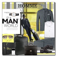 """""""But it wouldn't be NOTHING without A women"""" by littlefeather1 ❤ liked on Polyvore featuring Neil Barrett, ETON, Christian Dior, Louis Vuitton, Girard-Perregaux, Giorgio Armani, topsets and polyvoreeditorial"""