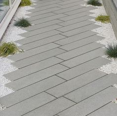 Grey granite plank paving - excellent incorporated into a modern or contemporary garden design #front_garden_path