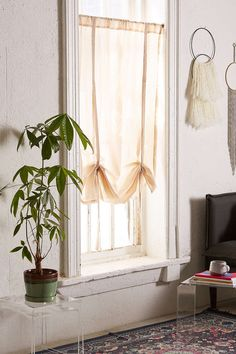 Draped Shade Curtain - Urban Outfitters