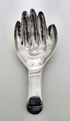 """Fine Art & Antiques Sale - Tuesday 10 July, 2012 - A George III silver """"Right Hand"""" caddy spoon, 3.25ins overall, Birmingham 1807, by Samuel Pemberton (engraved to terminal and with slight wear throughout) Note : Previously sold - John Norie Collection at Woolley & Wallis, 20th April 2004, lot 306  Sold for £280"""