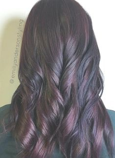 40 Hair Color Ideas that are Perfectly on Point Black And Mahogany Hair Black Hair With Highlights, Hair Color Highlights, Ombre Hair Color, Hair Color For Black Hair, Dark Hair, Dark Brown Hair With Low Lights, Mahogany Highlights, Balayage Highlights, Plum Hair Dye