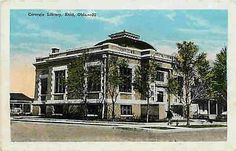 Enid Oklahoma OK 1920s Carnegie Library Collectible Antique Vintage Postcard