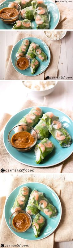 Looking for a light and healthy appetizer or meal? Try these SHRIMP SPRING ROLLS WITH PEANUT Dipping SAUCE and you'll be all set!