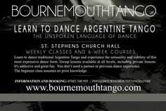 Bournemouthtango | 6-Week Course  Bournemouthtango 6-Week Course starting on April 19th  http://www.bournemouthtango.com/