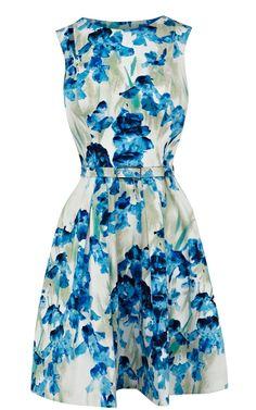 Karen Millen All Over Iris Print Dress