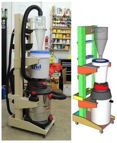 60-003 - Shop Vac and Cyclone Cart Workshop Woodworking Plan