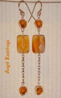Sterling Silver Faceted Carnelian Earrings with by angelramblings, $11.99