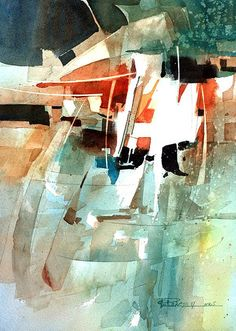 Carl Purcell Hung out to Dry / watercolour inspo Abstract Watercolor, Watercolor And Ink, Abstract Landscape, Watercolor Paintings, Abstract Art, Watercolours, Illustration Art, Illustrations, Abstract Expressionism