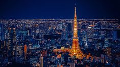 Wallpaper Tokyo Tower, City Lights, Cityscape, Night Light Planets Wallpaper, Lit Wallpaper, Original Wallpaper, Tokyo Night, Tokyo Tower, Most Beautiful Wallpaper, Fantasy Castle, City Lights, Night Lights