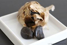 At first glance, you might think that black garlic is simply a variety that's black when harvested, but it's actually fermented garlic.