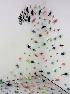 Senbazuru Installation by Hippy of Doom, via Flickr
