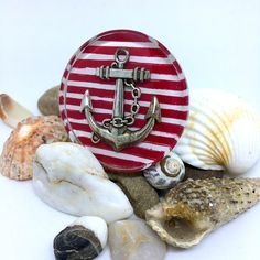 Items similar to Unique vintage statement ring. Big ring with anchor in marine style. Nautical Style, Nautical Fashion, Statement Rings, Unique Vintage, Trending Outfits, Unique Jewelry, Handmade Gifts, Etsy, Jewerly