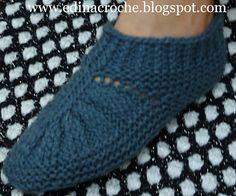 About Crochet: Sapato de tricô ( adulto)